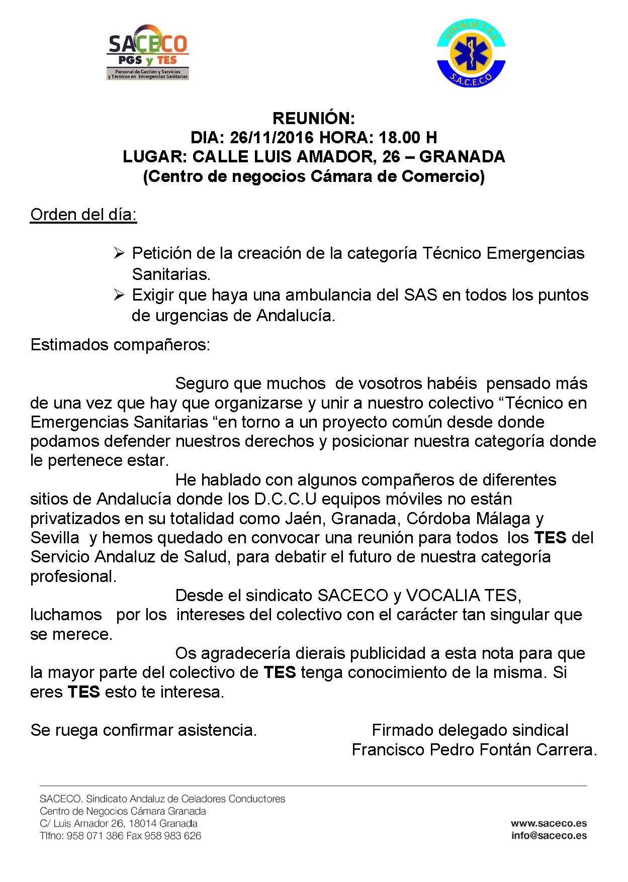 Convocatoria Andalucía T.E.S