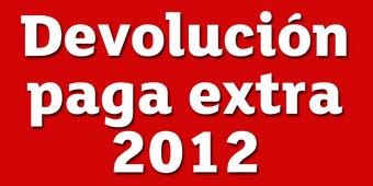 Recuperación de la tercera parte de la extra de 2012