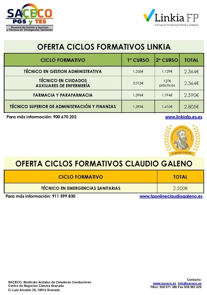 OFERTA FORMATIVA Linkia y Galeno