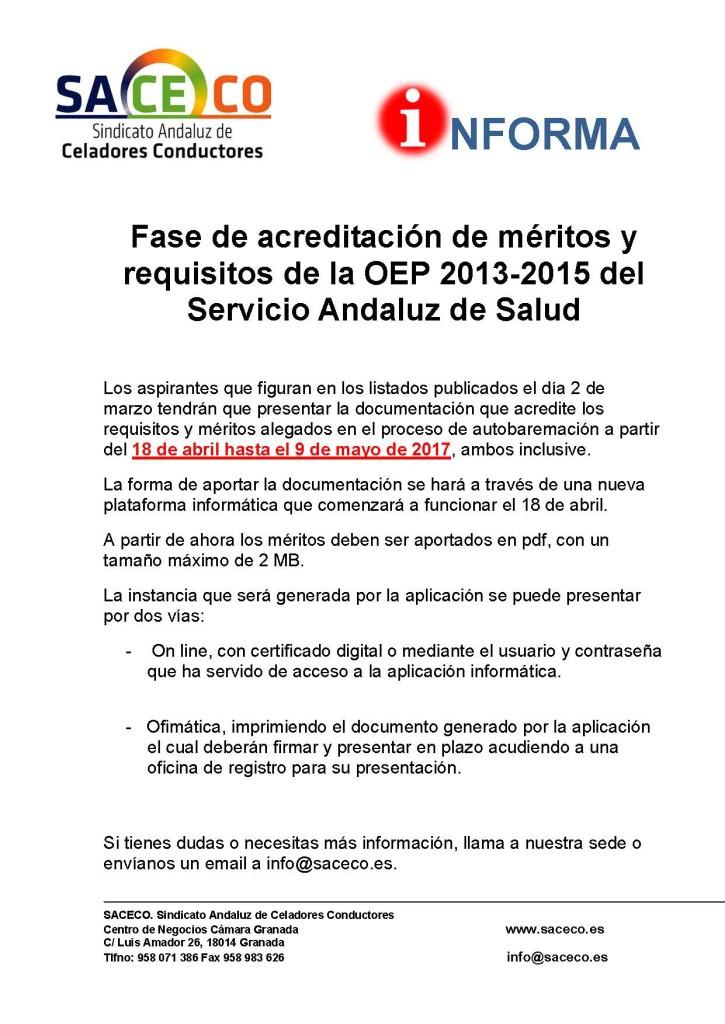 Acreditación méritos OEP 2013-2015