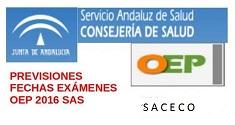 Previsión de fecha de los exámenes de la OEP 2016 del SAS