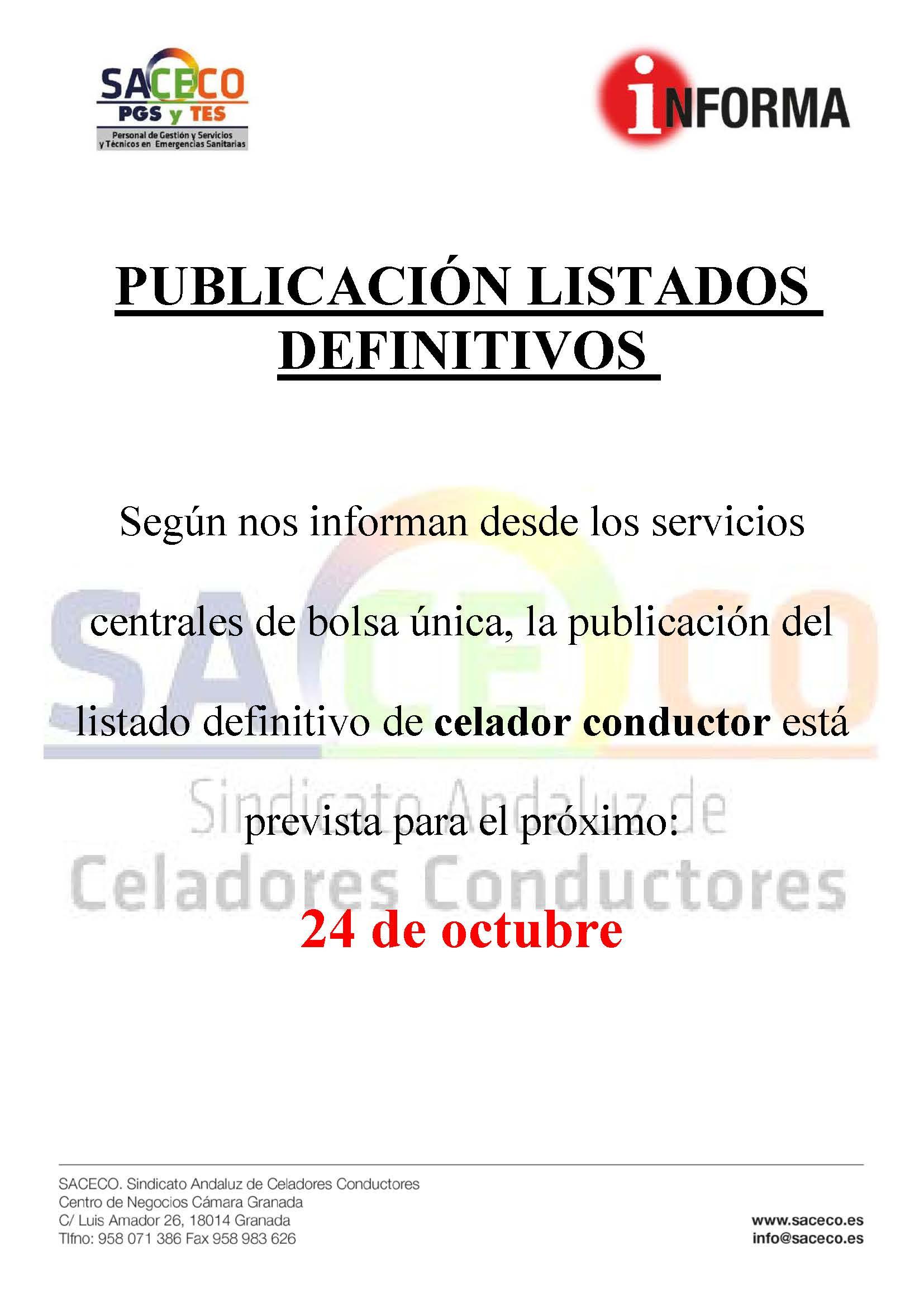 Prevision publicacion listados def. CC