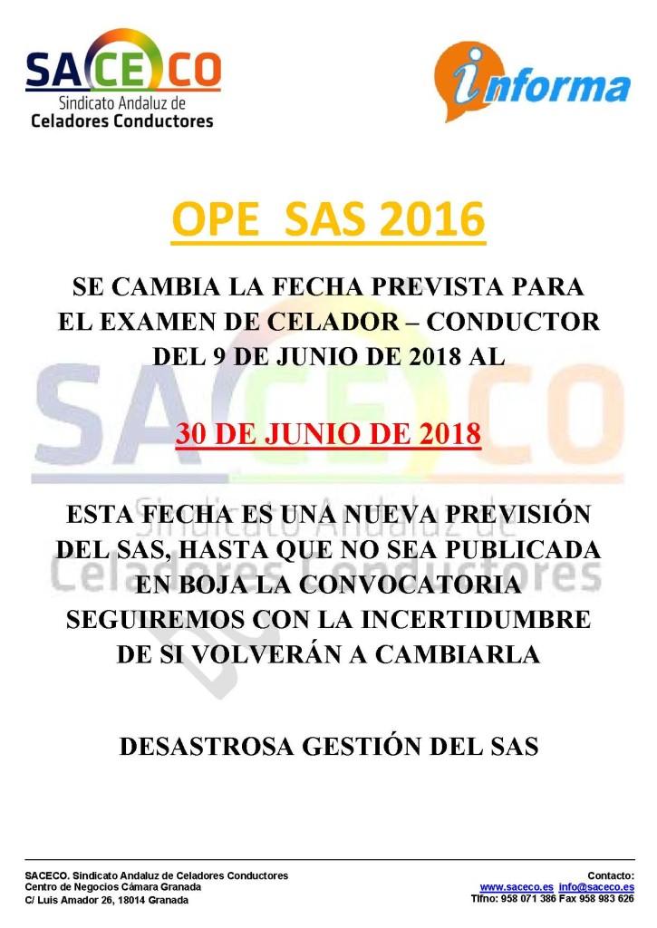 FECHA OPE 2016 CC