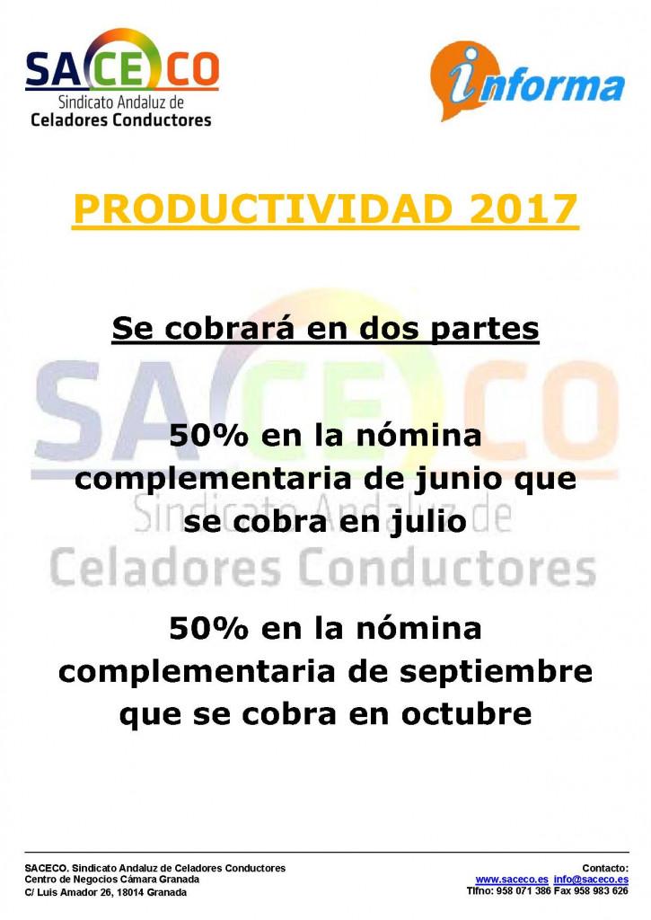 PRODUCTIVIDAD 2017