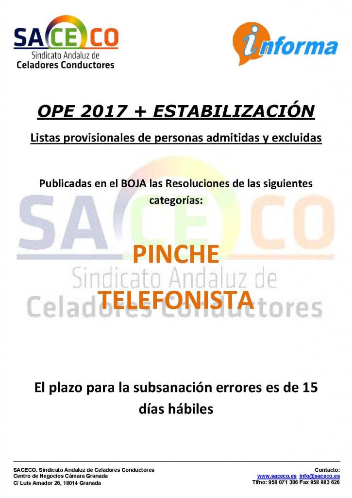Listado provisional ope 2017 pinche telefonista