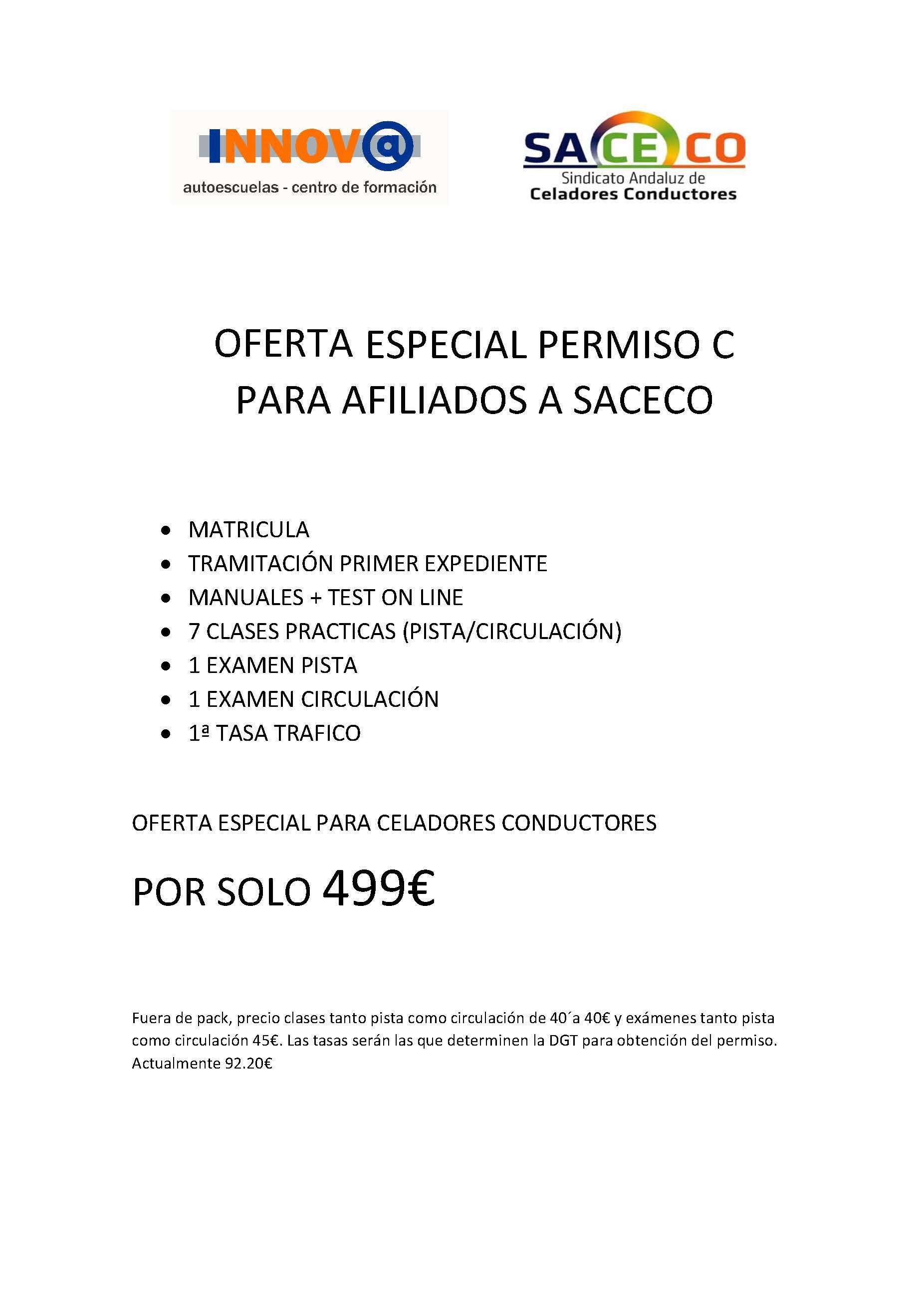 PROPUESTA DE OFERTA ESPECIAL PERMISO C CONDUCTORES CELADORES