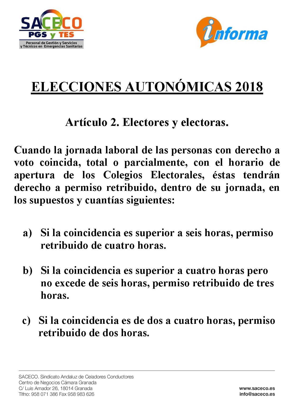 Permiso elecciones