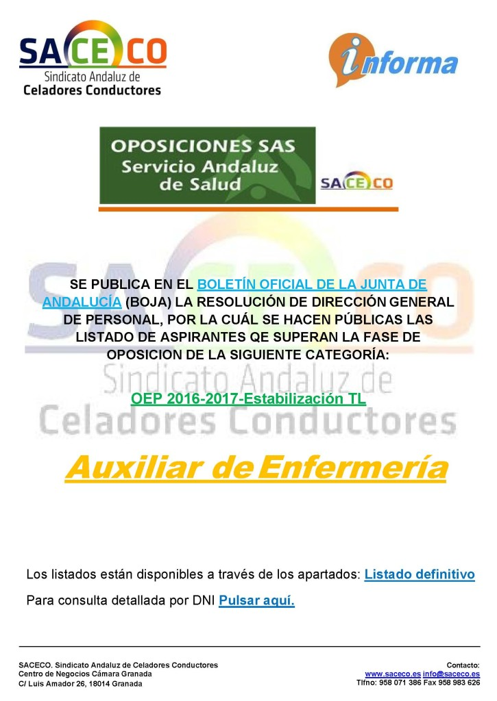 NNOOPE AUX ENFERMERIA LIST ADMITIDOS EXCLUIDOS BUENO