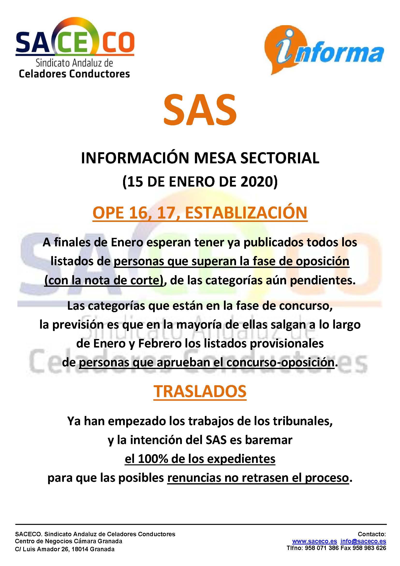 SAS OPE Y TRASLADOS