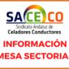 INFORMACIÓN MESA SECTORIAL 6 DE NOVIEMBRE